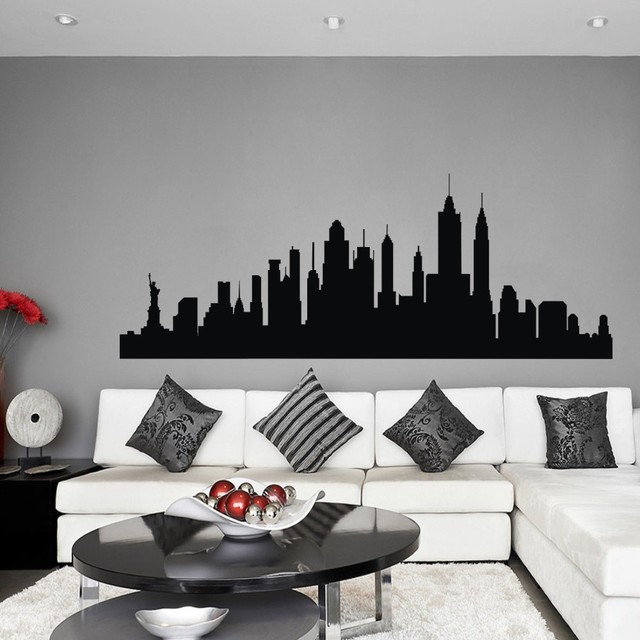 Wandtattoo New York City NYC Skyline Stadtbild Travel Vacation Ziel 3D  Wandaufkleber Kunst Wand Grafik Wandbild
