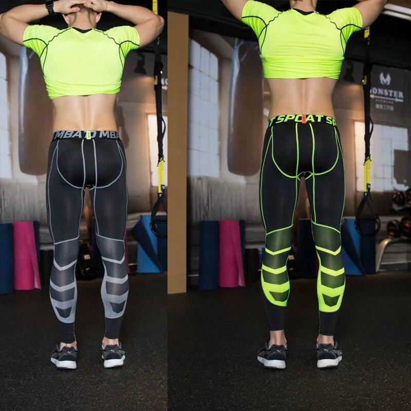 2016 Compression Sports Leggings Fitness Man Black Yoga