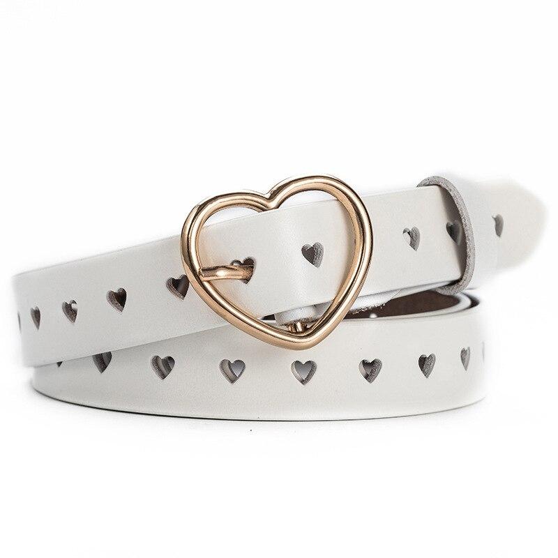 SISHION 105cm Hollow Heart Wide   Belts   for Women Fashion Female   Belt   O001 Black White Children's Heart   Belts   and Straps