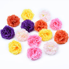6CM cheap Silk carnation christmas decor for home wedding scrapbooking artificial plants diy vases bridal accessories clearance(China)