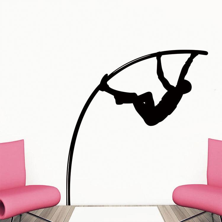 Atleta caliente Salto con pértiga Quitar Pegatinas de pared - Decoración del hogar - foto 1