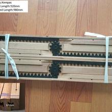 2 шт.(1 пара)/Лот Premintehdw лиственных пород дуба направляющие для стола деревянный стол раздвижные слайды эквалайзер
