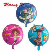 50 piezas de juguete historia globos de papel de aluminio 18 pulgadas de  dibujos animados héroe Woody capitán Buzz bolas niño de. 0b6cc7b2f39