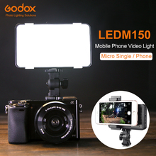 Godox LEDM150 5600K Mobile Phone LED Video Light Bright panel with In built Battery Rechargeable Battery (USB Power Charge)