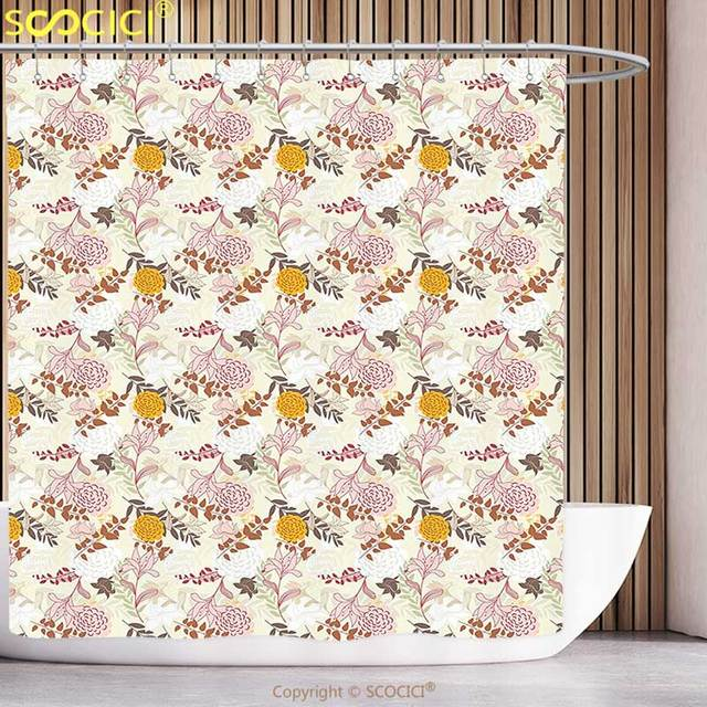 stylish shower curtain floral spring flower essence beauty fragrance butterflies image magenta light pink turquoise yellow