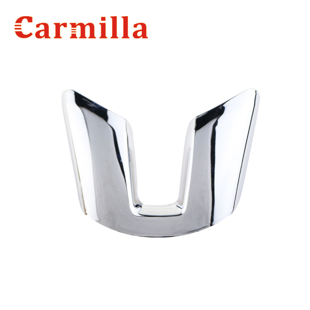Carmilla ABS Chrome Steering Wheel Decorative Trim Sticker Car Steering Wheel Sequins For Kia Sportage R 2012 2013 2014 2015 цена