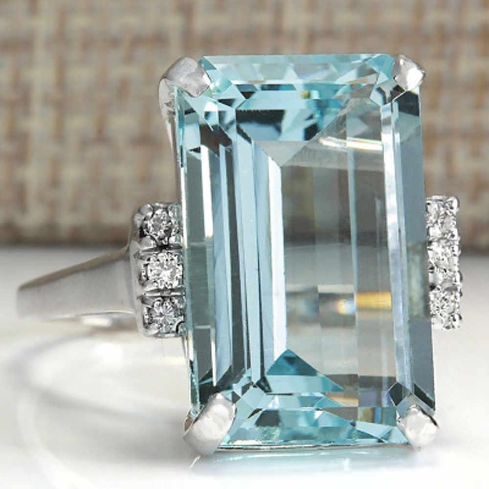2019 หัวใจใหม่หรูหราแฟชั่นผู้หญิงงานแต่งงานแหวนหมั้น Bijoux เครื่องประดับผู้หญิงแหวนนิ้วมือชุดขาย