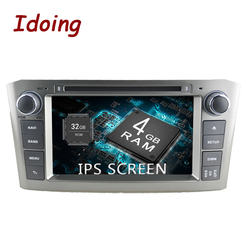 Idoing 7 2Din Android8 0 For Toyota Avensis 2003 2007 IPS Screen 4G 32G 8Core Steering