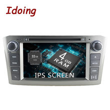Idoing 7″2Din Android8.0 For Toyota Avensis 2003-2007 IPS Screen 4G+32G 8Core Steering-Wheel Car DVD Multimedia Player Fast Boot