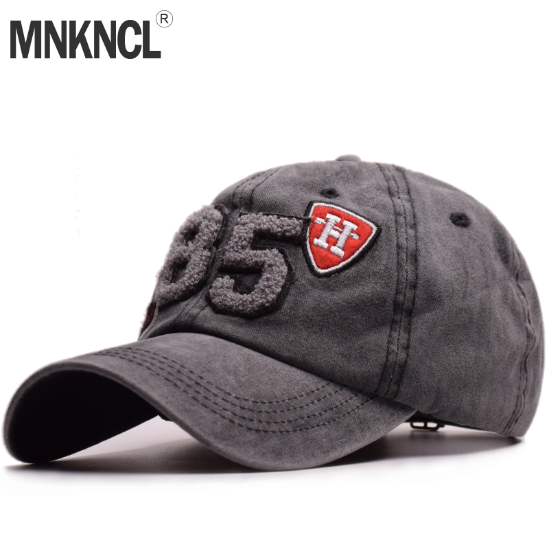High Quality Washed Baseball Cap 100% Cotton Snapback Cap Letter Embroidery Hat Men Women Vintage Dad Cap Outdoor Sports Caps