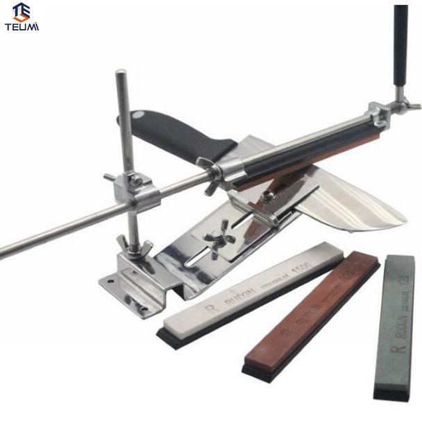 ФОТО Knife Sharpener Professional Sharpening System 1 Set Sharpening Stones Ruixin Fix-angle 4 Whetston Ketchen Accessories.