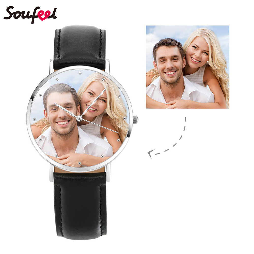 SOUFEEL Men's Watch Photo Clock Couple Watch with Japanese M