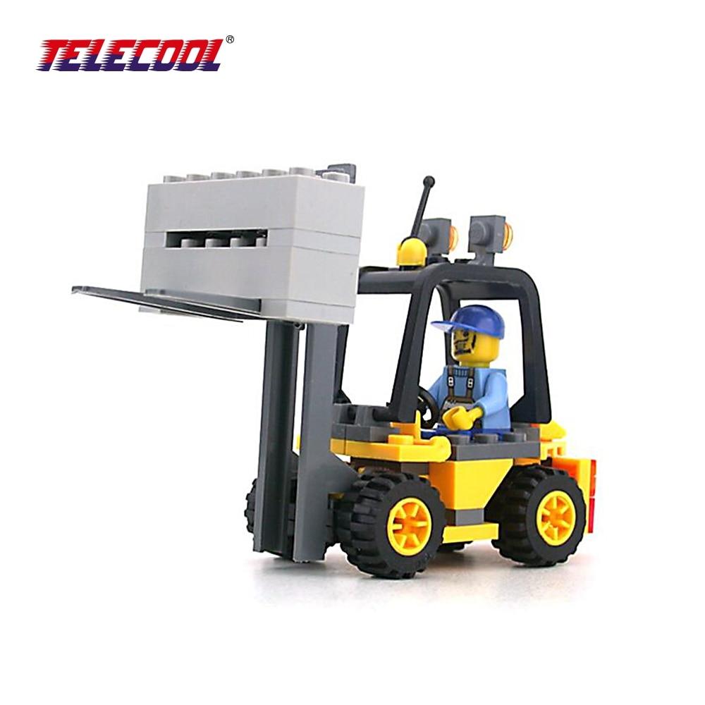 TELECOOL 8041 Building Blocks Figures Gift for Kids Forklift Boy ...