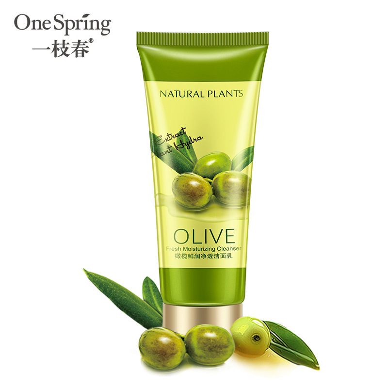 OneSpring Olive Bubble Moisturizing Facial Pore Cleanser Washing Product Face Skin Care Anti Aging Wrinkle Treatment Cleansing