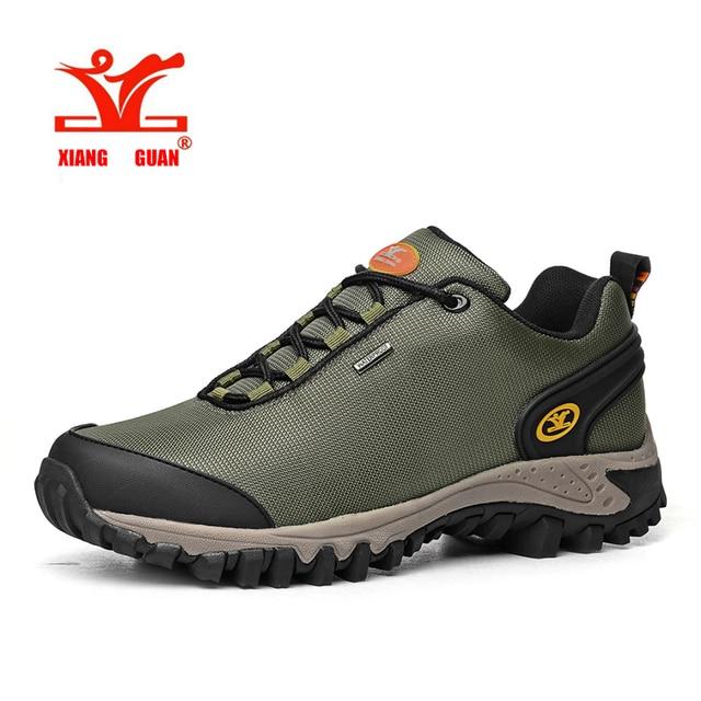 € 46.21 49% de DESCUENTO|Xiang Guan nueva superficie impermeable Zapatillas de senderismo mujer hombres respirables calientes al aire libre Zapatos