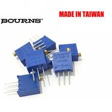 จัดส่งฟรี 100 PC Original BOURNS Potentiometer 3296W 10K 50K 100 K3296W 1 103LF Multiturn Trimming Potentiometer