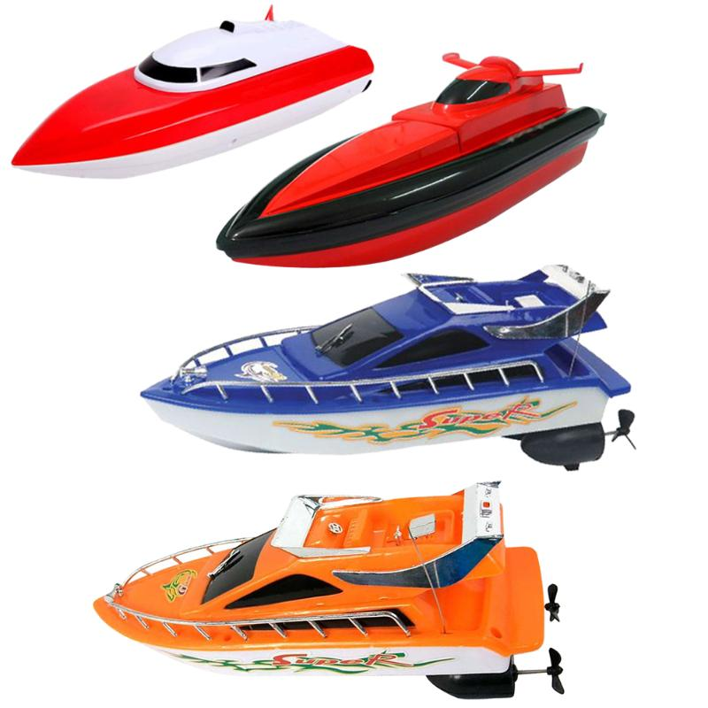 4 Colors Kids Remote Control RC Super Mini Speed Boat 20M High Performance Boat Toy Birthday Xmas Gift Toy for Girls Boys Kids