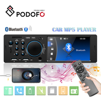 Podofo 7805 1 Din 4 Inch Car Radio Autoradio Stereo Cassette Video MP3 MP5 Player FM Radio Car Audio Support Rear View Camera