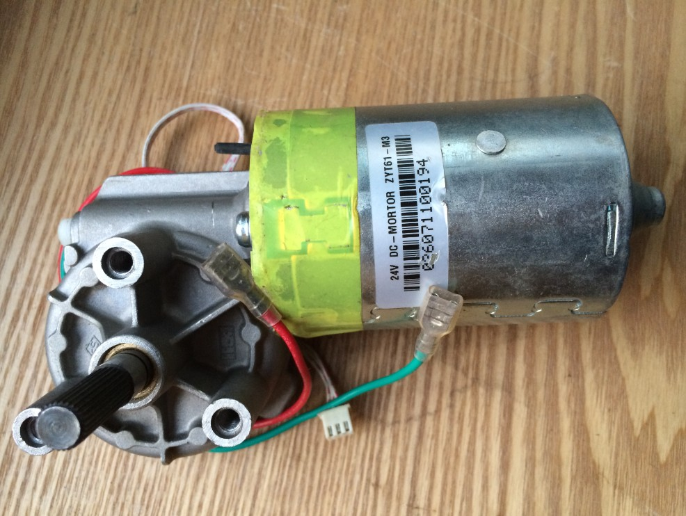 Used dc worm gear motor zyt61 m3 24vdc special low noise for Low noise dc motor