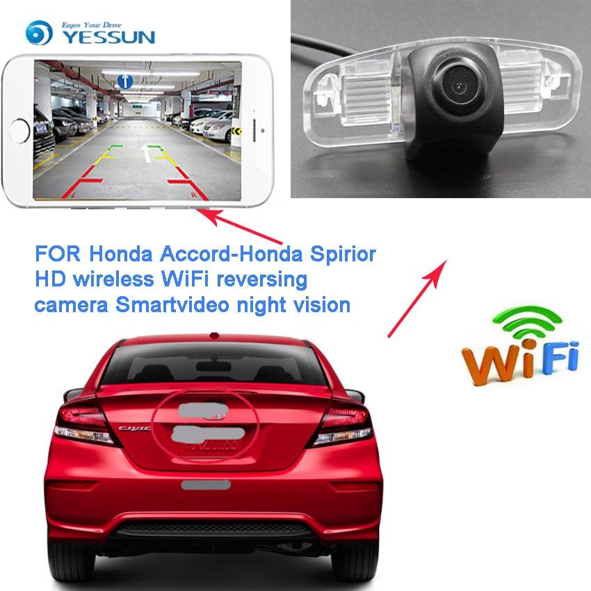 Nouveauté! Connexion sans fil caméra de recul HD pour Honda Spirior 2009 ~ 2012 Accord 9 pour Acura TSX 2 Vision nocturne CCD