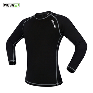 WOSAWE Mtb Winter Clothing Men Bike Fleece Cycling Jersey Thermal Underwear Warm Breathable Elastic Running Bicycle Clothing Gym