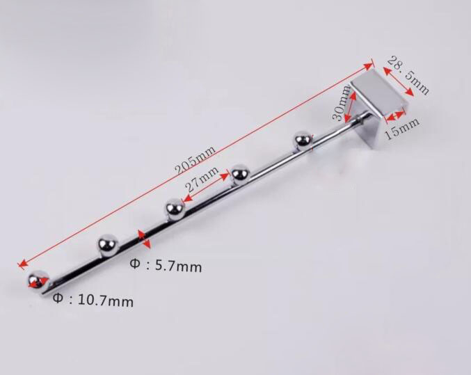 5 Kralen/7 Kralen Ik Haak Hardware Kleding Ondergoed Opknoping Strip Display Rack Plank Haken Vierkante Buis Haak Meubels Accessoires Exquise (On) Vakmanschap