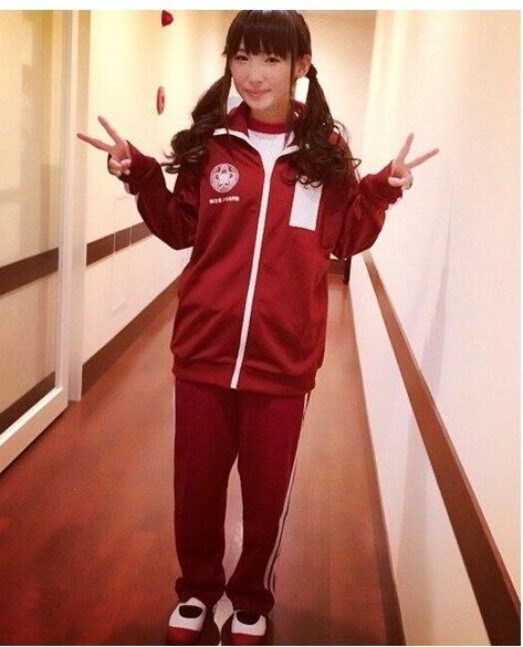 love live!Honoka Kotori Umi Eli Nozomi Maki Rin Hanayo Nico sports wear long sleeve coat cosplay costume