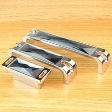 32mm 96mm 128mm 160mm modern fashion deluxe K9 gary crystal handles silver chrome wine cabinet wardrobe drawer pull knob handle