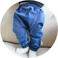 Menor de la Alta calidad del otoño del resorte niños pantalones niños niñas pantalones vaqueros del bebé niños jeans para niños pantalones de mezclilla ocasional 18m-3y
