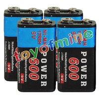 2/4/6/8/10/12/16 шт Прочный 9 V 9 вольт 600 мАч Мощность Черный Ni-MH Перезаряжаемые Батарея PPS блок