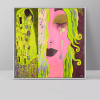 1 Piece Kiss And Tears By Gustav Klimt Canvas Paintings Portrait Wall Art Pictures for Living Room Cuadros Decoration Unframed