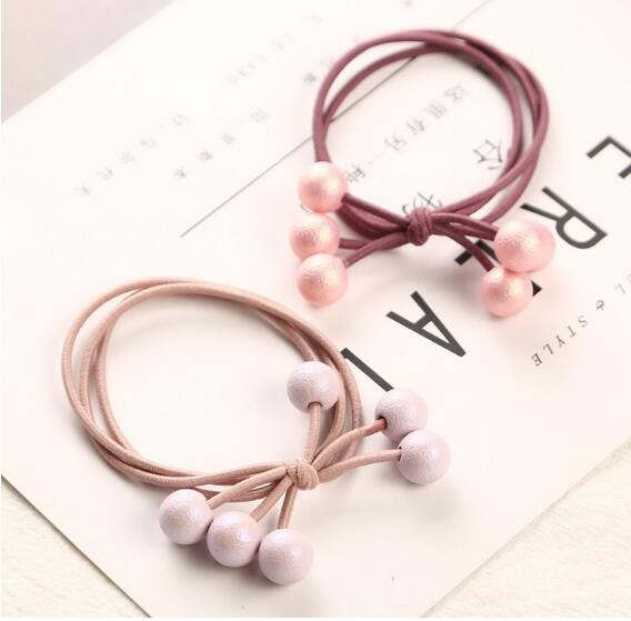 Multicolor Pearls Hair Holders Rubber Bands Elastic Hair Bands Girl Women Ponytail Tie Gum Hair Accessories Headwear in Women 39 s Hair Accessories from Apparel Accessories