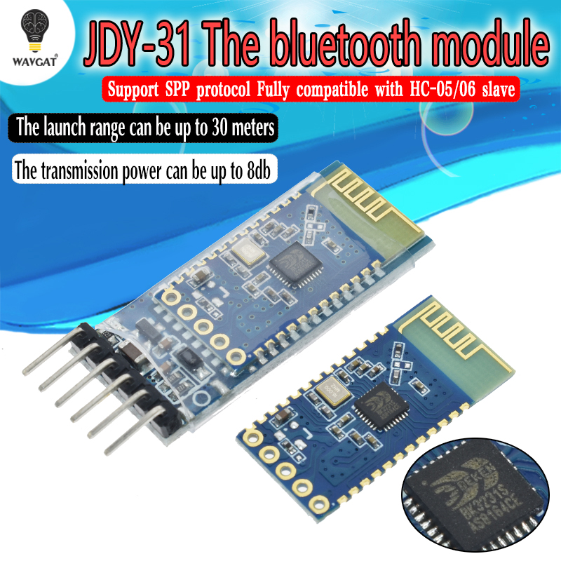 JDY-30 = JDY-31 SPP-C seriale Bluetooth modulo pass-through di comunicazione seriale wireless dalla macchina Sostituire HC-05 HC-06JDY-30 = JDY-31 SPP-C seriale Bluetooth modulo pass-through di comunicazione seriale wireless dalla macchina Sostituire HC-05 HC-06