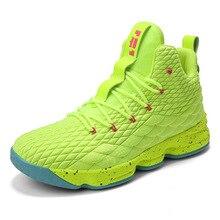 Высокие Леброн баскетбольной обуви Для мужчин Для женщин амортизацию дышащий баскетбольные кроссовки противоскольжения спортивной открытый человек спортивная обувь