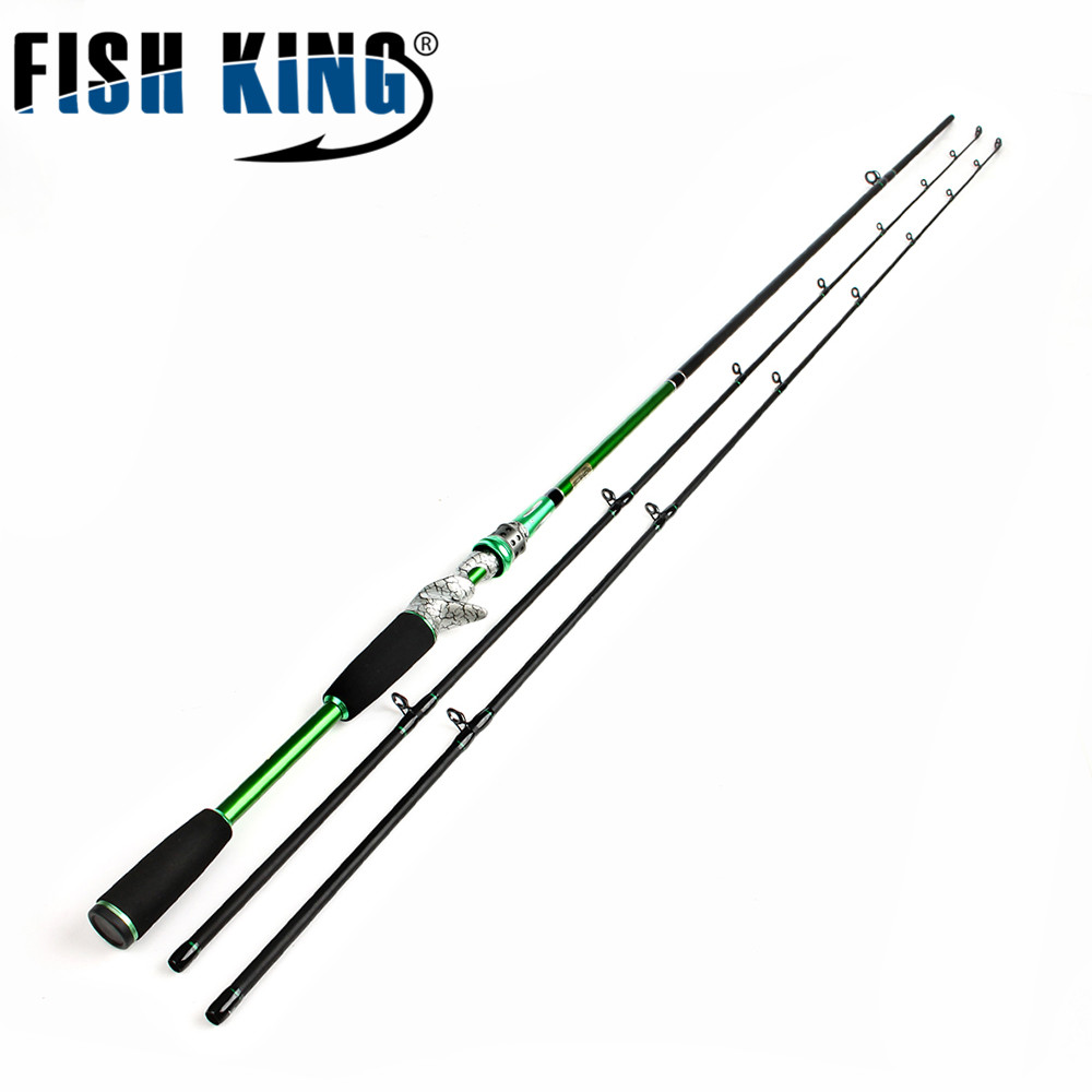 FISH KING Hi Carbon Lure Fishing Rod 1 8m 3m Hard 2 Section With One Baitcasting