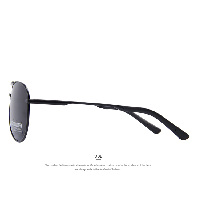 MERRY'S Men's Polarized Pilot Sunglasses, Alloy Frame, Lightweight For Superior Comfort
