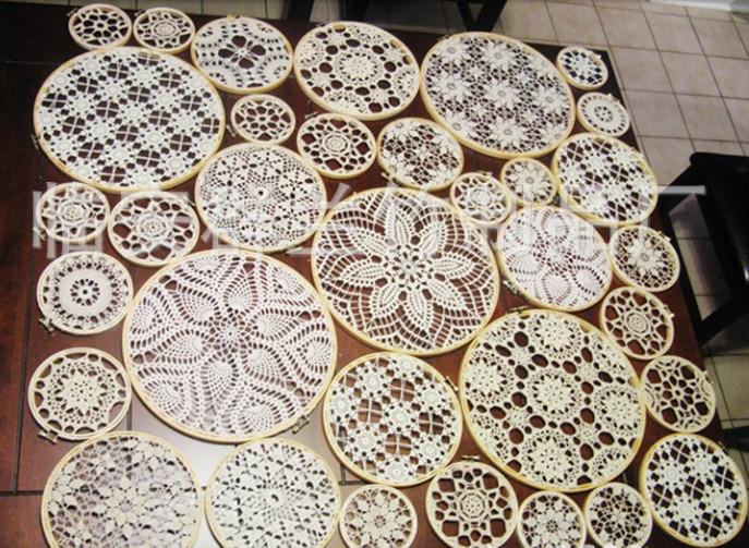 Justerbar 9st 13 cm broderihällor rund bambu korsstyg ram - Konst, hantverk och sömnad - Foto 6