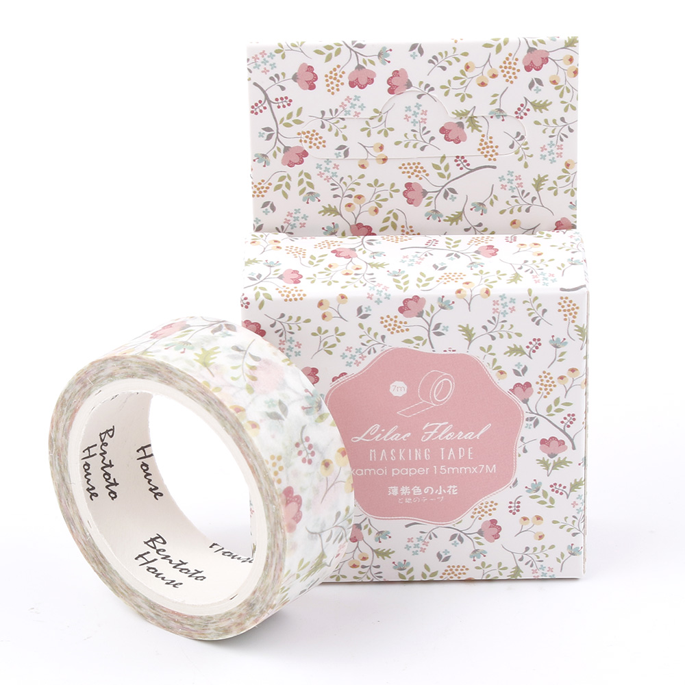 Colorful Season of Flowers Decorative Washi Tape DIY Scrapbooking Masking Tape School Office Supply Escolar Papelaria