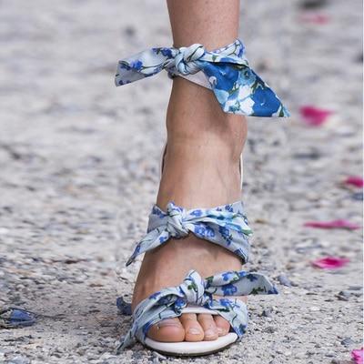 As D'été Chaussures Show Papillon Show Fleurs Peep Coloré Mode as De noeud 2019 Sandales Couverture Femmes Toe Dames Marque Trois Talon Dentelle Défilé 5n0qH6qwB