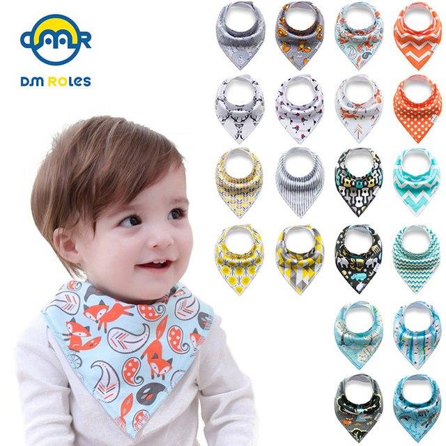 4pcs/lot Baby bibs For Boy&Girl burp cloths bandana bibs baby bandana Infant Waterproof Dribble Bibs Bandanas Bavoirs