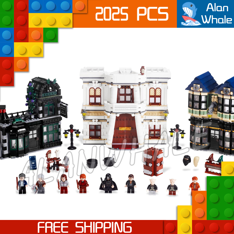 NEW 2025Pcs Magic Word Harry Potter Diagon Alley 10217 Building Blocks Gift Toys