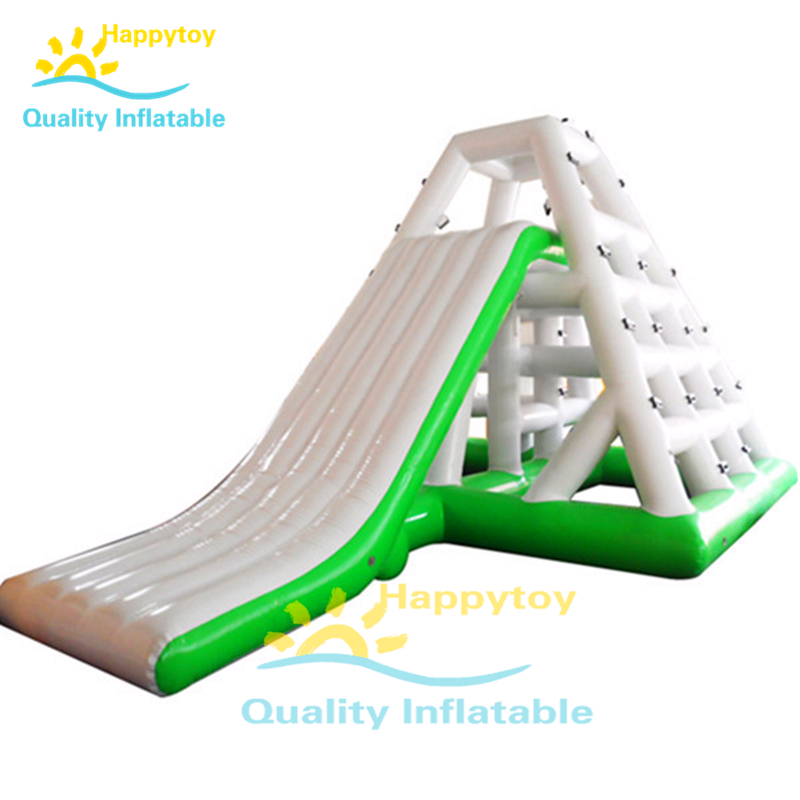 Floating Water Park Climbing Inflatable Water Slides For Pool Lake
