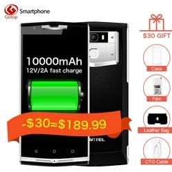 Original Oukitel K10000 Pro 10000mAh Battery smartphone Android 7.0 13MP Mobile phone 4 RAM 64G ROM 4G Fingerprint Cell Phone