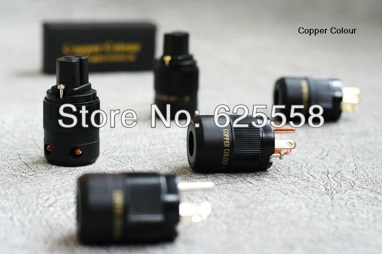 CC OCC-126F Pure OCC Copper Hi-End US AC POWER CONNECTOR+IEC Plug us ac gaofei gf pwocc202 occ copper power core powerflux hi end power cable