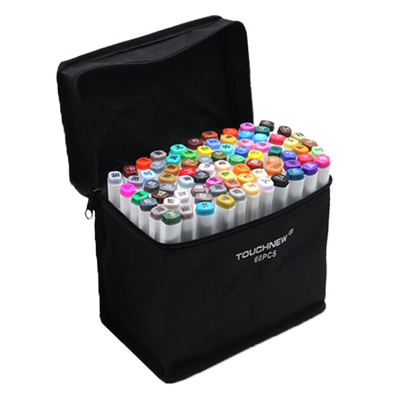 NEWSALE 60 Colors Artist Dual Head Sketch Markers Set For Manga Marker School Drawing Pen