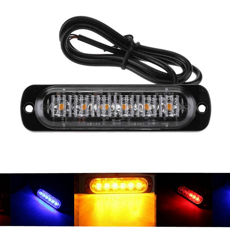 1Pcs Daytime Running Lights Car Flash Light Super Bright 6LED Waterproof DC 12V White Yellow Auto Truck Fog Light Driving Lamps цены