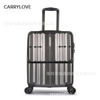 CARRYLOVE PC 20 Front computer bag Rolling Luggage Multifunction business suitcase universal wheel suitcase