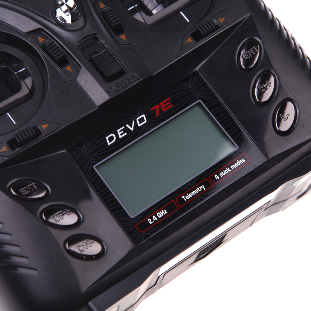 Walkera DEVO 7E 2 4G 7CH DSSS Radio Control Transmitter RX601 or RX701Receiver for RC Helicopters