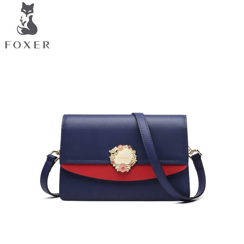 Designer Messenger Foxer Nouvelle Selle En 2019 Sac Mode Épaule Cuir Blue Polyvalent Femelle De vvw6q5P