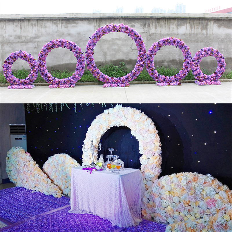 1pcs plastic flower base frame diy circle arch artificial flower 1pcs plastic flower base frame diy circle arch artificial flower accessories wedding cylindrical diy stage decoration background in artificial dried junglespirit Image collections